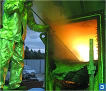 炉内残滓の熔断除去