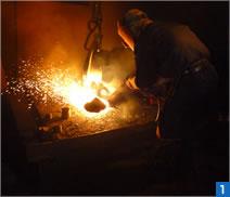 鋳造品湯口の熔断