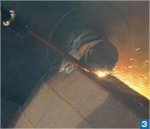 パッカー車ゴミ収納部シャフト熔断