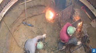 シャープランス熔断とガス切断、作業比較