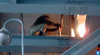 高所で安全に熔断作業