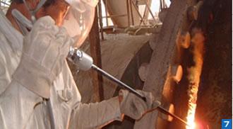 大型施設の熔断解体